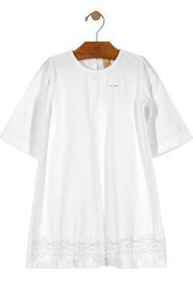 Vestido Festa Menina Branco