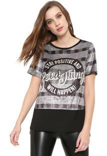 Camiseta My Favorite Thing(S) Recorte Cinza