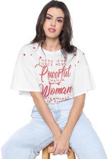 Camiseta Lança Perfume Lettering Branca