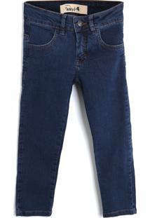 Calça Jeans Jeans Reserva Mini Menino Liso Azul-Marinho