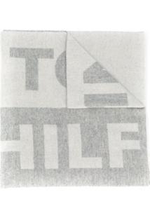 Tommy Hilfiger Cachecol Oversized Com Patch De Logo - Neutro