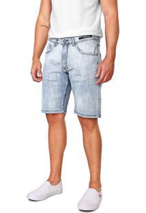 Bermuda Jeans Aramis Reta Estonada Azul