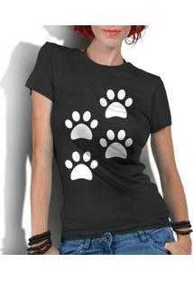 Camiseta Criativa Urbana 4 Patas Dog - Feminino