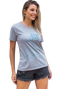 Camiseta Basica My T-Shirt Sail Life Mescla - Cinza - Feminino - Algodã£O - Dafiti