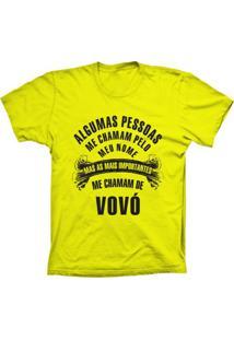 Camiseta Baby Look Lu Geek Chamam De Vovó Amarelo