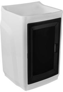 Gabinete Plástico Com Tanque 15L 1 Porta Gtq0 Branco/Preto Astra Branco
