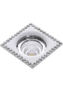 Spot Embutir Quadrado Cristal 50W Gu10 Branco Bella Iluminação Bivolt