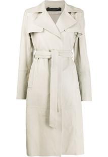 Federica Tosi Trench Coat Com Cinto - Neutro
