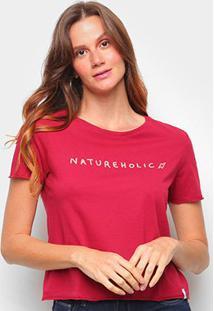 Camiseta Cantão Baby Look Natureholic Feminina - Feminino-Vermelho Escuro