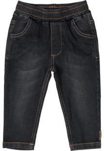 Calça Infantil Em Jeans Preto
