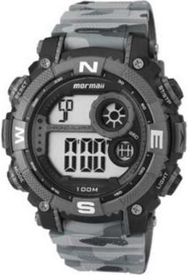 Relógio Digital Mormaii Camuflado Cinza Mo12579A8C