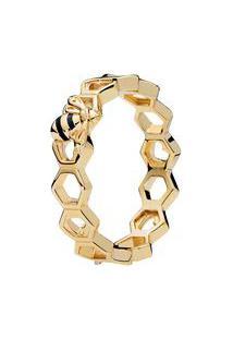 Anel Abelha- Dourado- Tamanho 52 = 12- Pandorapandora