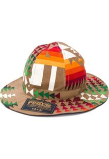 Sacai Corduroy Patterned Hat - Marrom