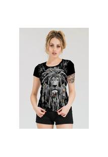 Camiseta Stompy Estampada Feminina Modelo 43 Preta