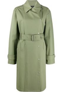 Joseph Trench Coat Com Cinto - Verde