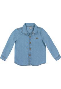 Camisa Jeans Infantil Menino Toddler Hering Kids