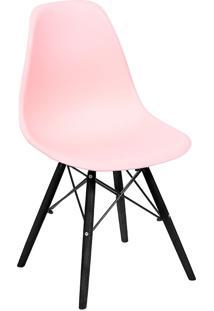 Cadeira Com Base Preta 1102-Or Design - Salmao