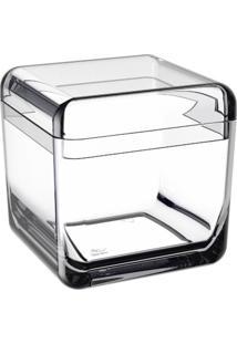 Porta Algodão E Cotonetes Cube Cristal Coza