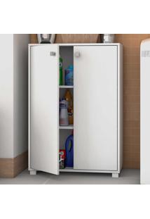 Armário Multiuso 2 Portas Bs104 Branco - Brv Móveis