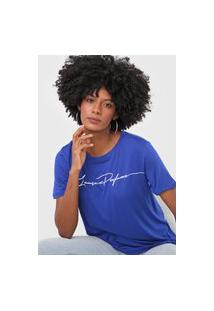 Camiseta Lança Perfume Logo Azul