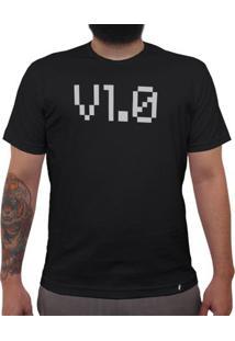 Versão 1.0 - Camiseta Clássica Masculina