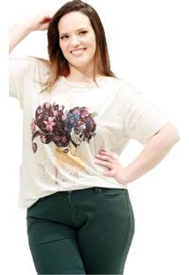 Camiseta Vickttoria Vick Mulher Caveira Plus Size
