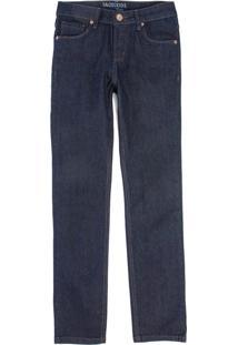 Calça Jeans Reta Taco Infantil Masculino Stone Stone - Kanui