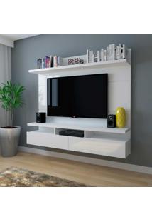 Painel Para Tv Até 50 Polegadas Zeus Branco Gloss
