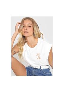 Camiseta Dzarm Peônia Off-White