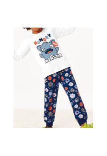 Pijama Malwee 1000077464 Infantil Branco