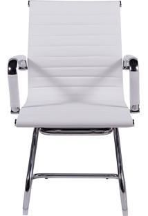 Cadeira De Escritório Esteirinha Fixa - Branca