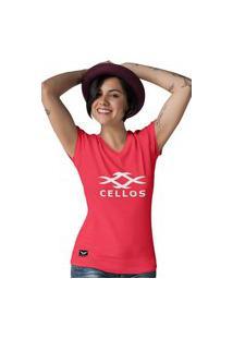 Camiseta Gola V Cellos Horns Premium Vermelho