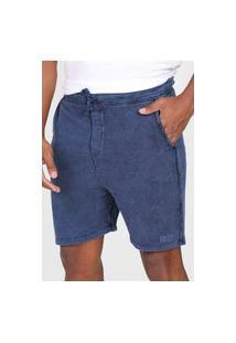 Bermuda Calvin Klein Jeans Reta Amarração Azul-Marinho