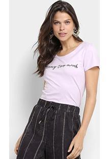 Camiseta Top Moda Básica Missing Too Much Feminina - Feminino-Lilás