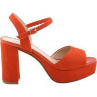 ff6a9c0c1 Meia Pata Com Salto Laranja feminina | Shoes4you