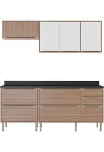 Cozinha Compacta Neylan 7 Pt 4 Gv Nogueira E Branco