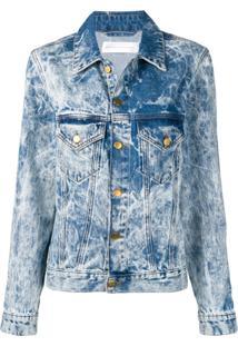 Victoria Victoria Beckham Bleached Denim Jacket - Azul