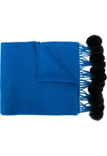 N.Peal Cachecol De Cashmere - Azul