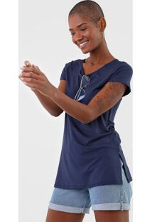 Camiseta Rovitex Lisa Azul-Marinho - Azul Marinho - Feminino - Viscose - Dafiti