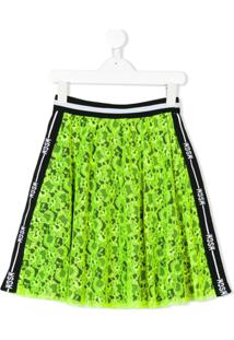 Msgm Kids Saia Com Renda - Green