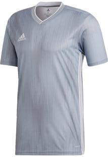 Camisa Futebol Adidas Tiro 19 Cinza