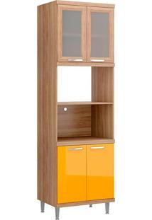 Módulo Para Forno C/ Vidro 5120 Sicília - Multimóveis - Argila Acetinado / Amarelo Gema