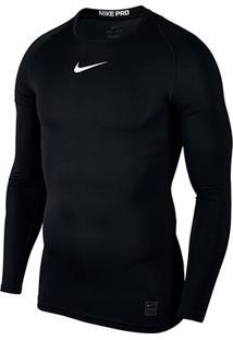 5debe333de31 Camiseta Compressão Nike Pro Manga Longa Masculina - Masculino-Preto+Branco