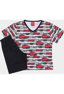 Pijama Infantil Lupo Carros Curto Masculino - Masculino