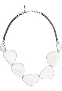 Colar Feminino Pedras - Off White