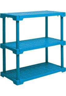 Estante Cube Com 3 Prateleiras Azul