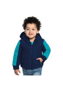 Jaqueta Infantil Masculina Com Capuz Rovitex Kids Azul