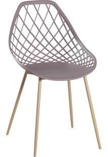 Cadeira Cloe Base Aço Camurça Rivatti