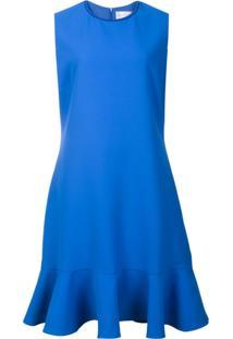 Victoria Victoria Beckham Vestido Peplum - Azul