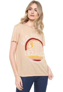 Camiseta Lez A Lez Estampada Laranja